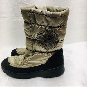 San Bernardo Italy Green Puffer Snow Boots Sz 9
